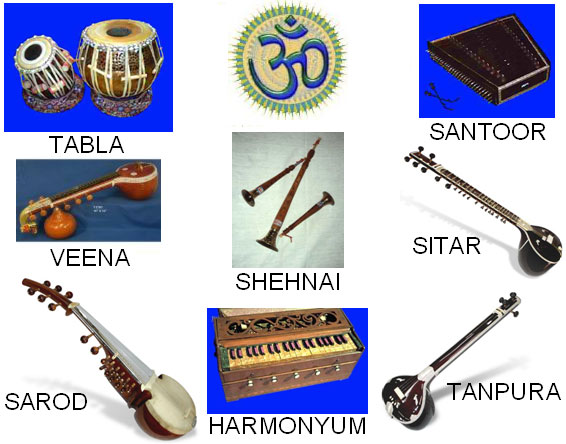 Instruments in Indian classical music